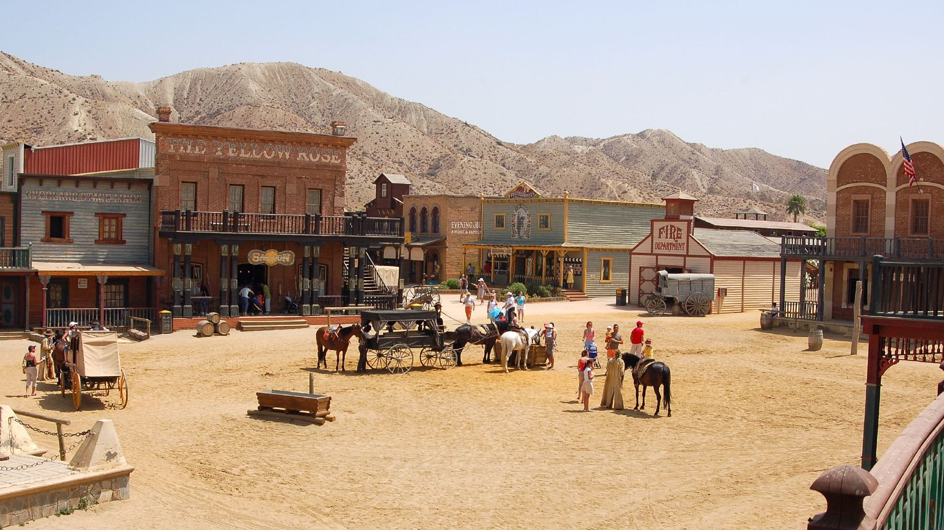 Oasys - Wild West styled theme park, near the town of Tabernas in the province of Almería, Andalusia.