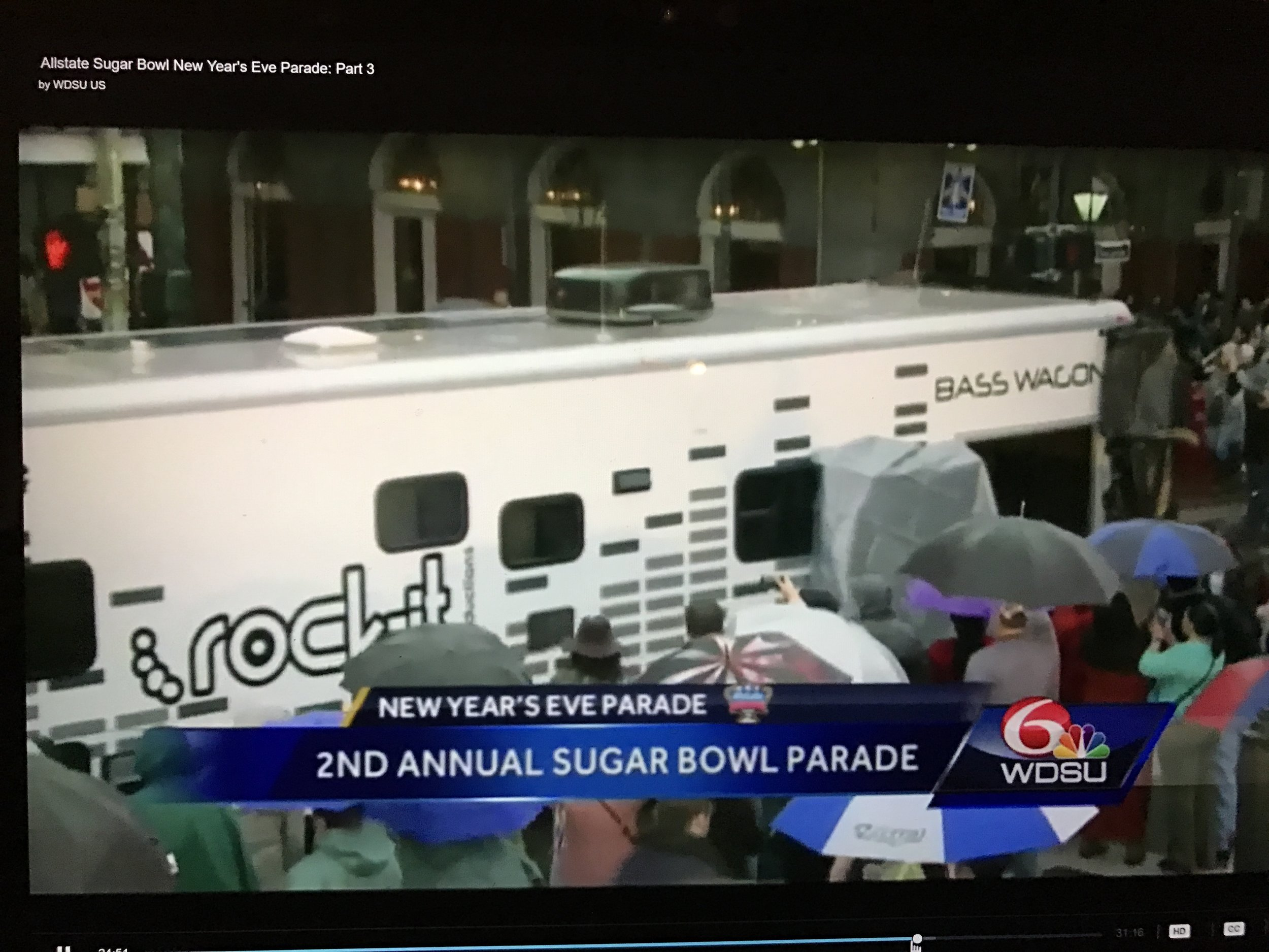 Bass Wagon rolled in The Allstate Sugar Bowl Parade, New Orleans