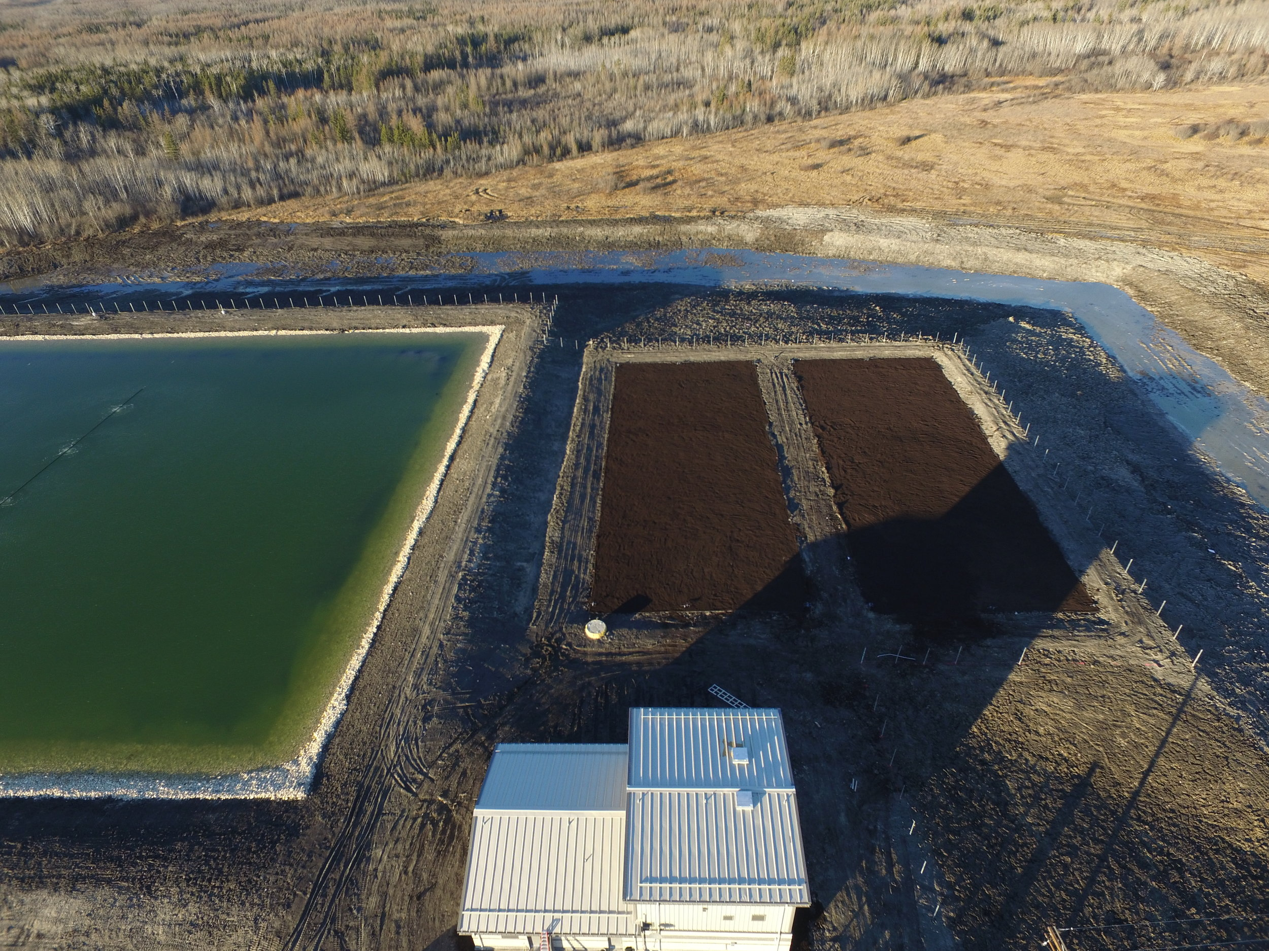 The aerated lagoon and SAGR for Lake St. Martin First Nation were constructed in 2016.