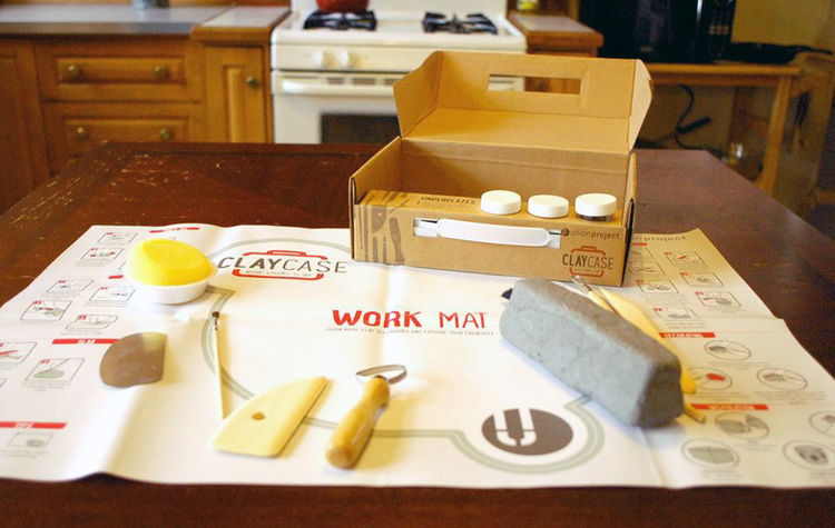 Union Project's Clay Case included an easy-to-clean mobile work mat complete with instructions, illustrations and project ideas. Photo: Ben Filio