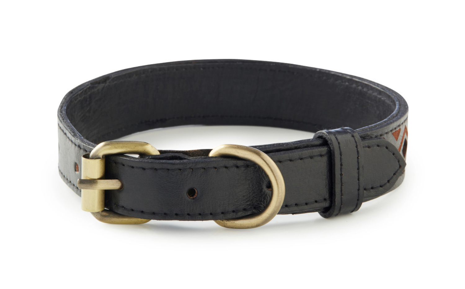 Kaanapali - Black Handcrafted Leather Dog Collar