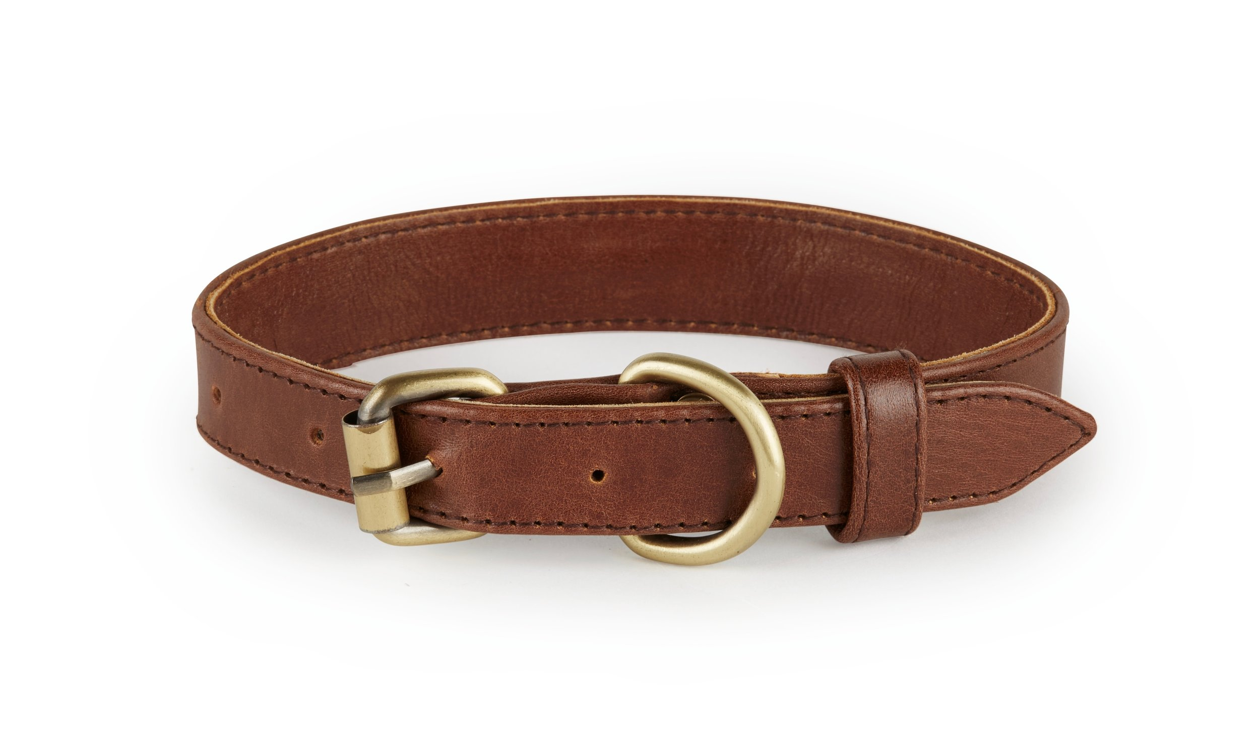 Santa Barbara - Italian Leather Dog Collar