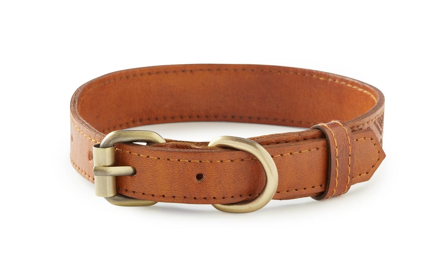 Waikiki - Tan Soft Leather Dog Collar
