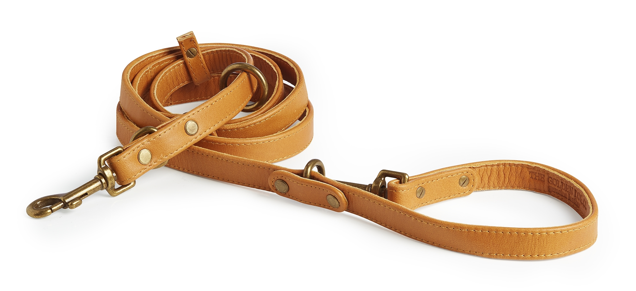 Topsail Tan Leather Dog Leash