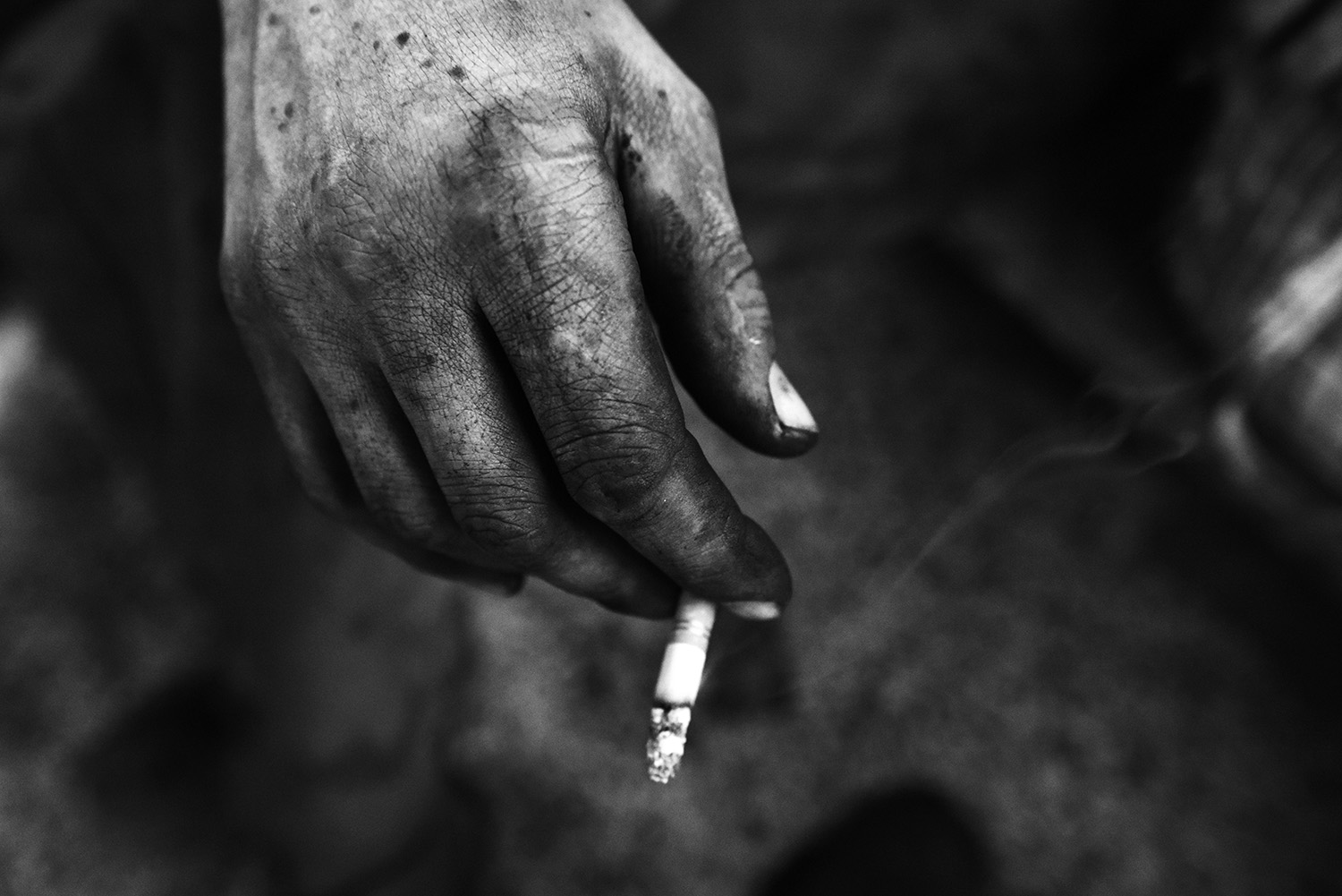 Smoking in the coal mine is strictly forbidden, most of the coal miners on arriving at the locker room light a cigar. That is usually the first thing they doafter exhausting shifts.
