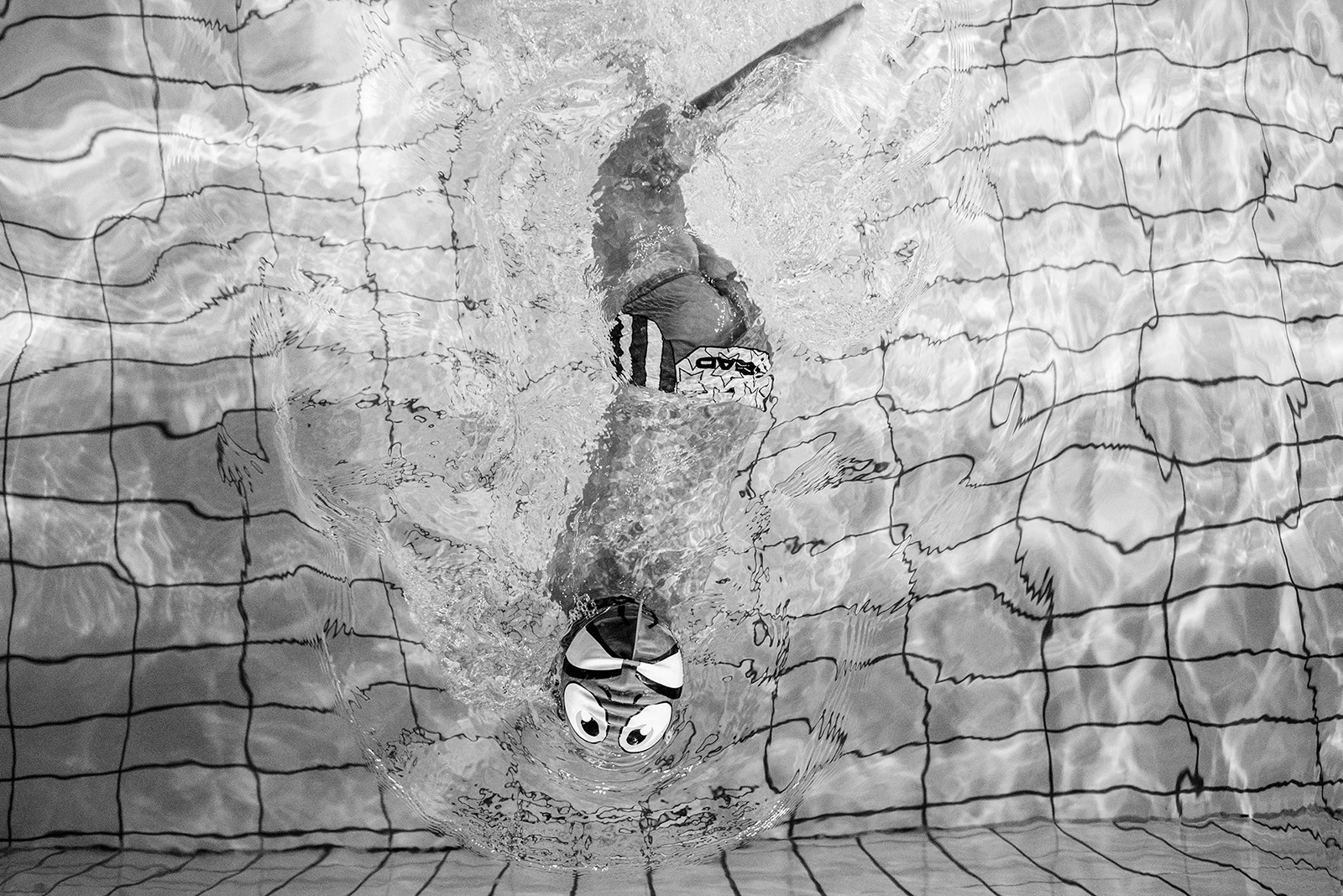 Ismail during the training at the Olympic Pool in Sarajevo.