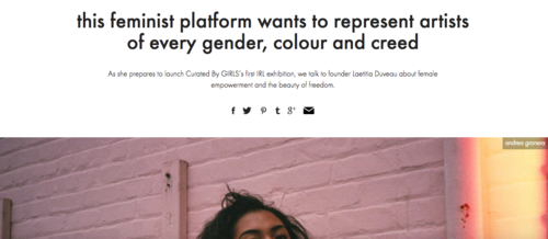 i-D Magazine: this feminist platform wants to represent artists of every gender, colour and creed
