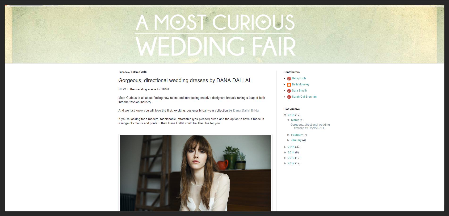 A Most Curious Wedding Fair 01/03/2016