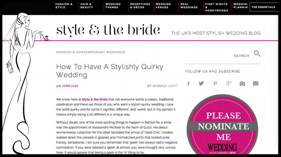 Style and The Bride June 2016