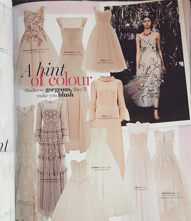 And there she is! Our Ipomea smack bang in the centre of the Nov/Dec issue of @bridesmagazine . . . . . #weddingdress #weddingmagazine #bridal #bohobride #boho #wedding #coolbride #bride #weddinggown #pink #pinkweddingdress
