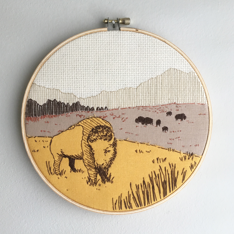 Midwest hoop art