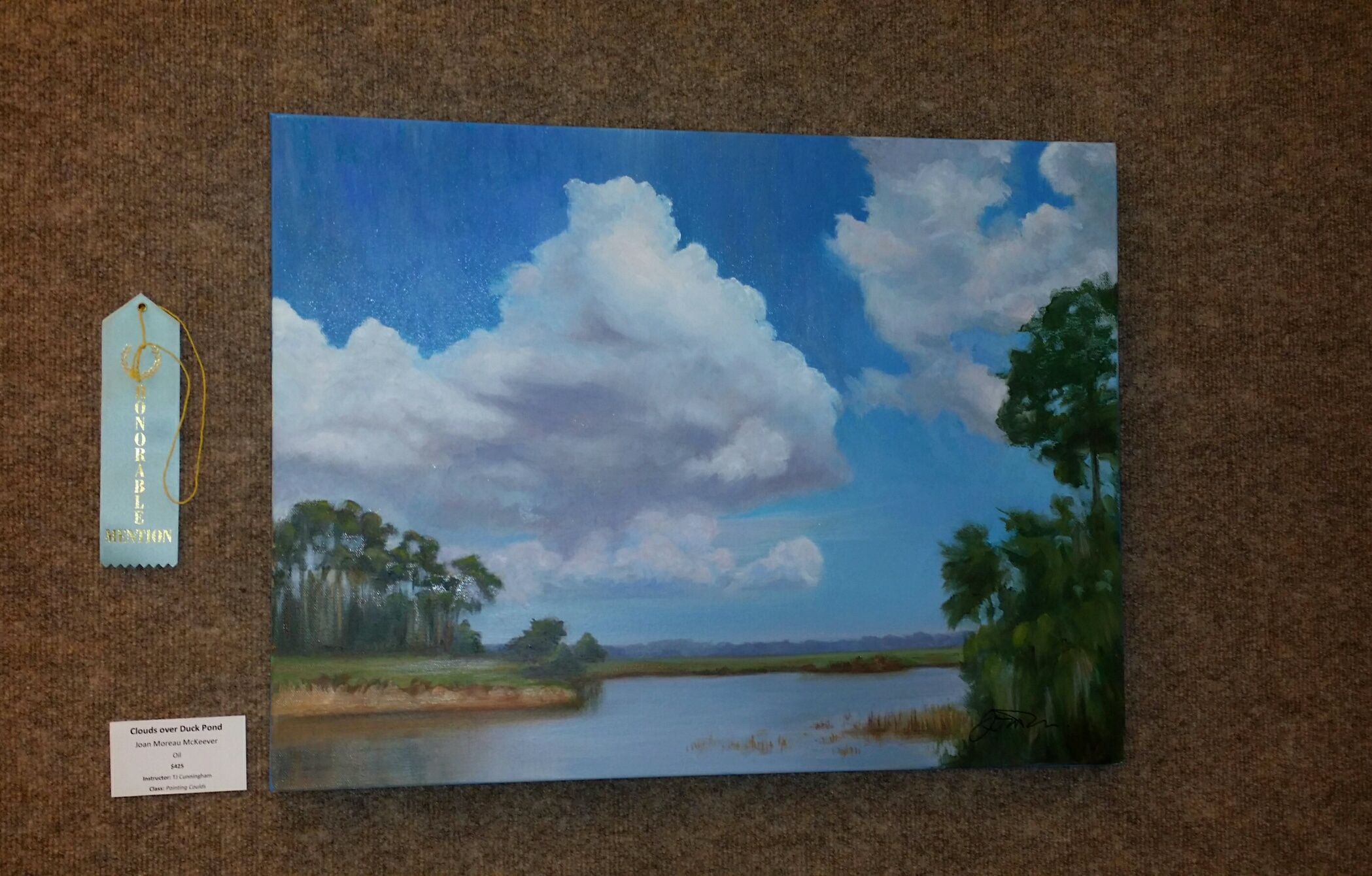 CLOUDS OVER DUCK POND