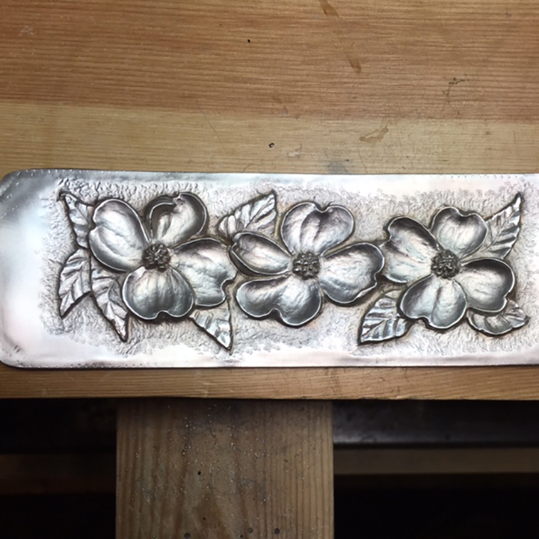 """2 inch Sterling Silver Dogwood Cuff Bracelet"""