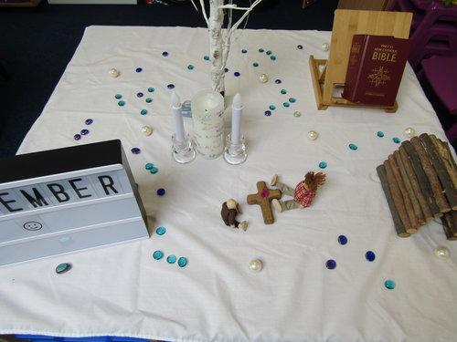 Class prayer table