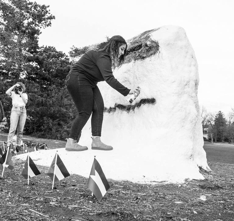 Painting the Rock at MSU.