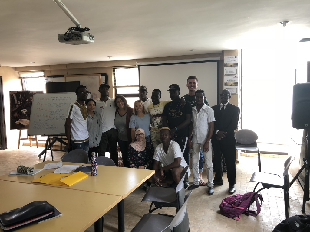 Teaching African Immigrants in Morocco about public health.