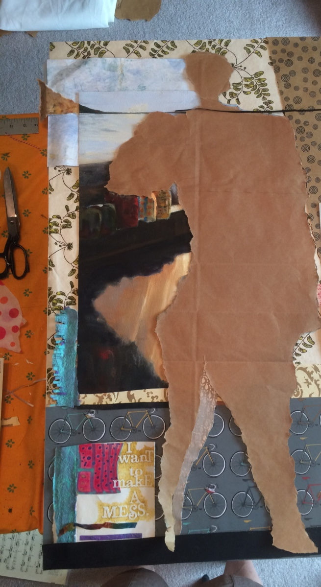 Laying everything out takes days. Checking back to peek and get a feel for what's needing to be expressed.
