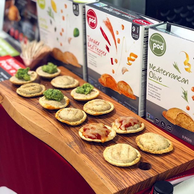 Demoing these cute hummus pod toppings at a @wholefoods near you #podsdotricks