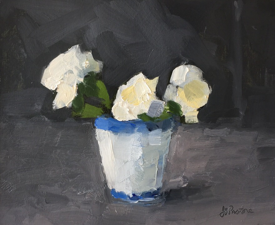 White Flower in Porcelain Cup #2