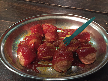Trying currywurst for the first time! Delicious Berlin food.