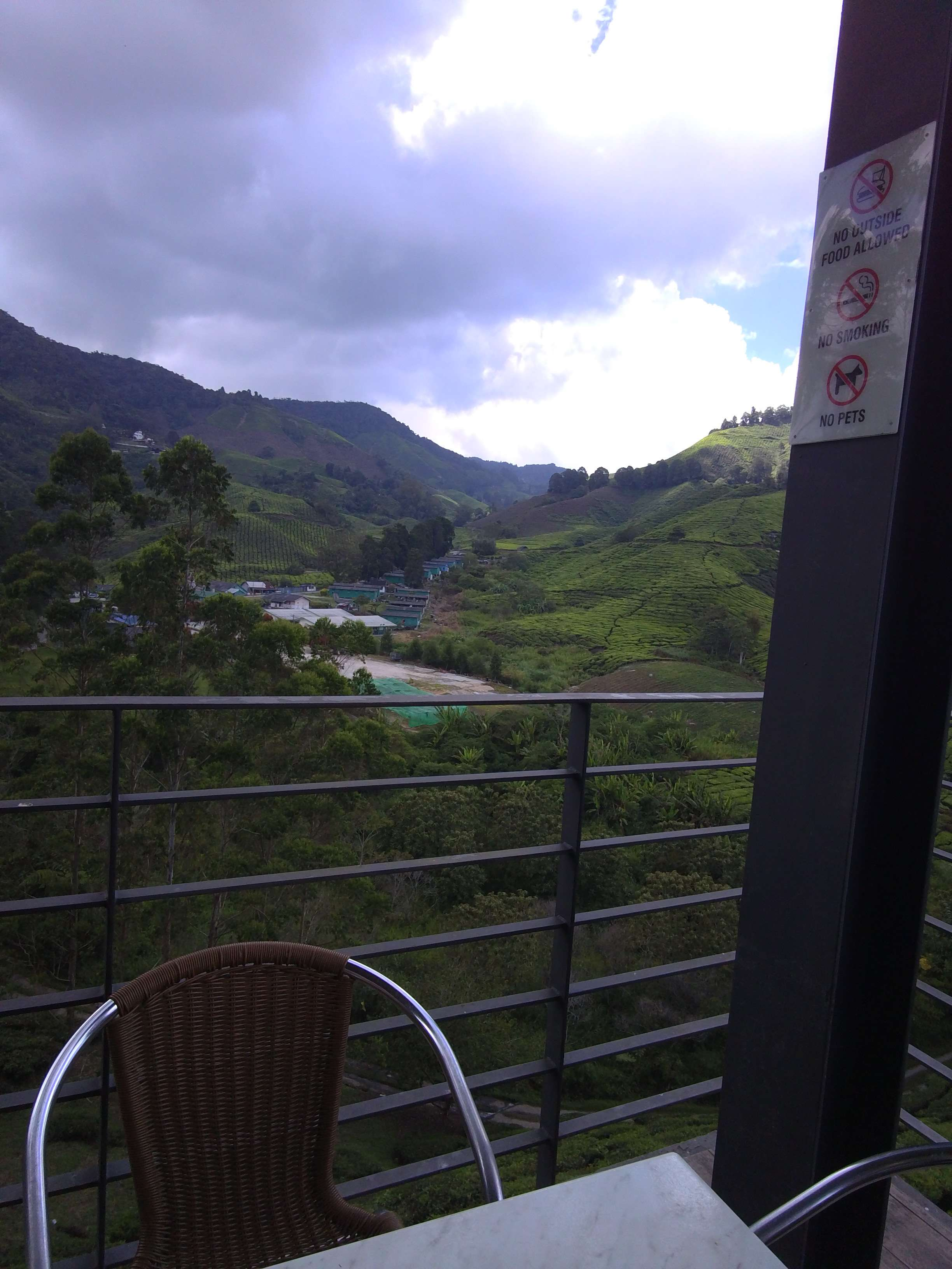 View down from the tea plantation. I recommend trying to get one of the seats in the front!