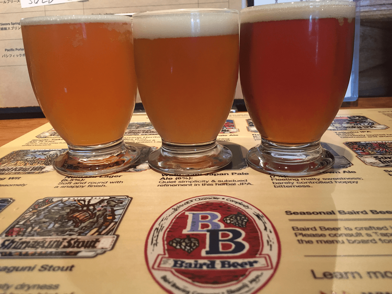 Try the sampler beer since you'll be able to taste three different types of beers!