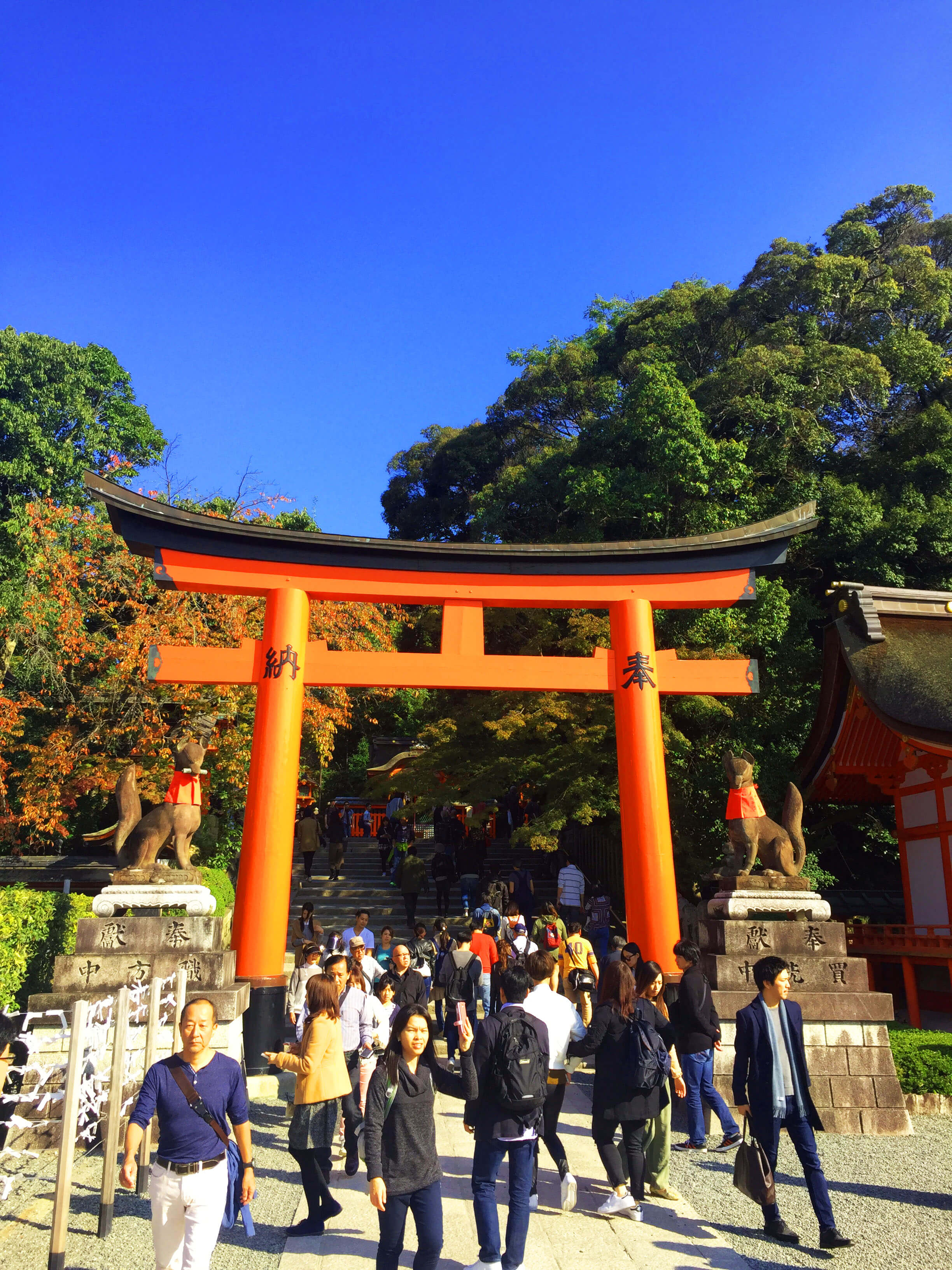 Entrance Inari Shrine Kyoto- Roman Gate
