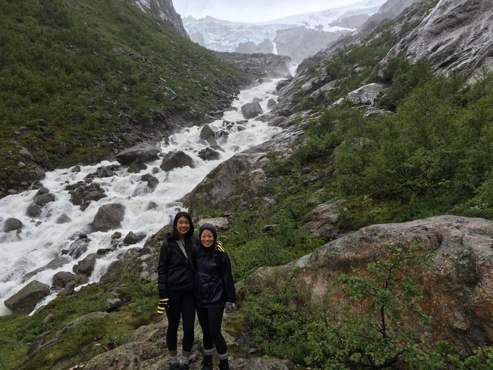 Hiking to Buarbreen in western Norway
