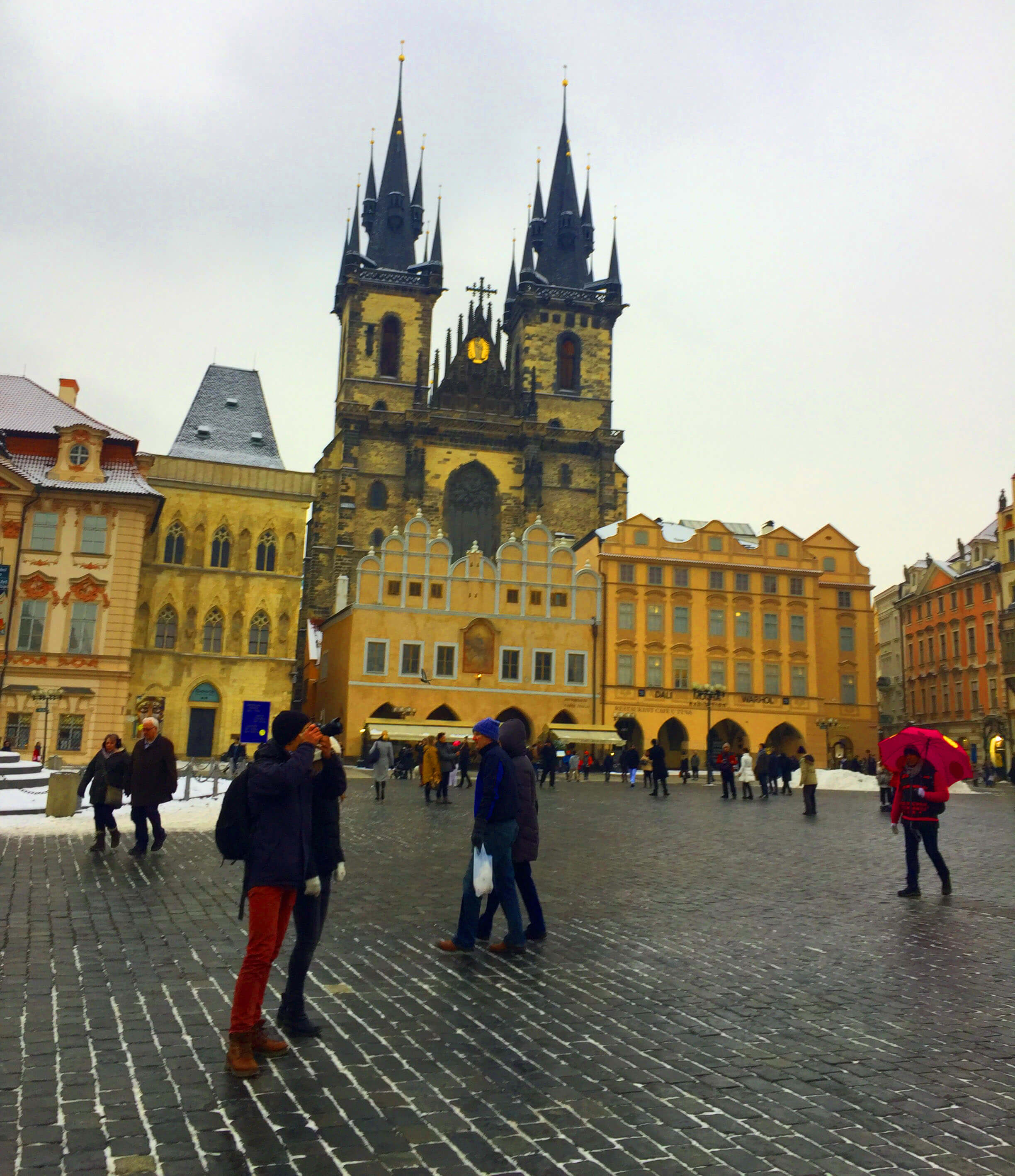 St. Vitus Cathedral- it was freezing outside