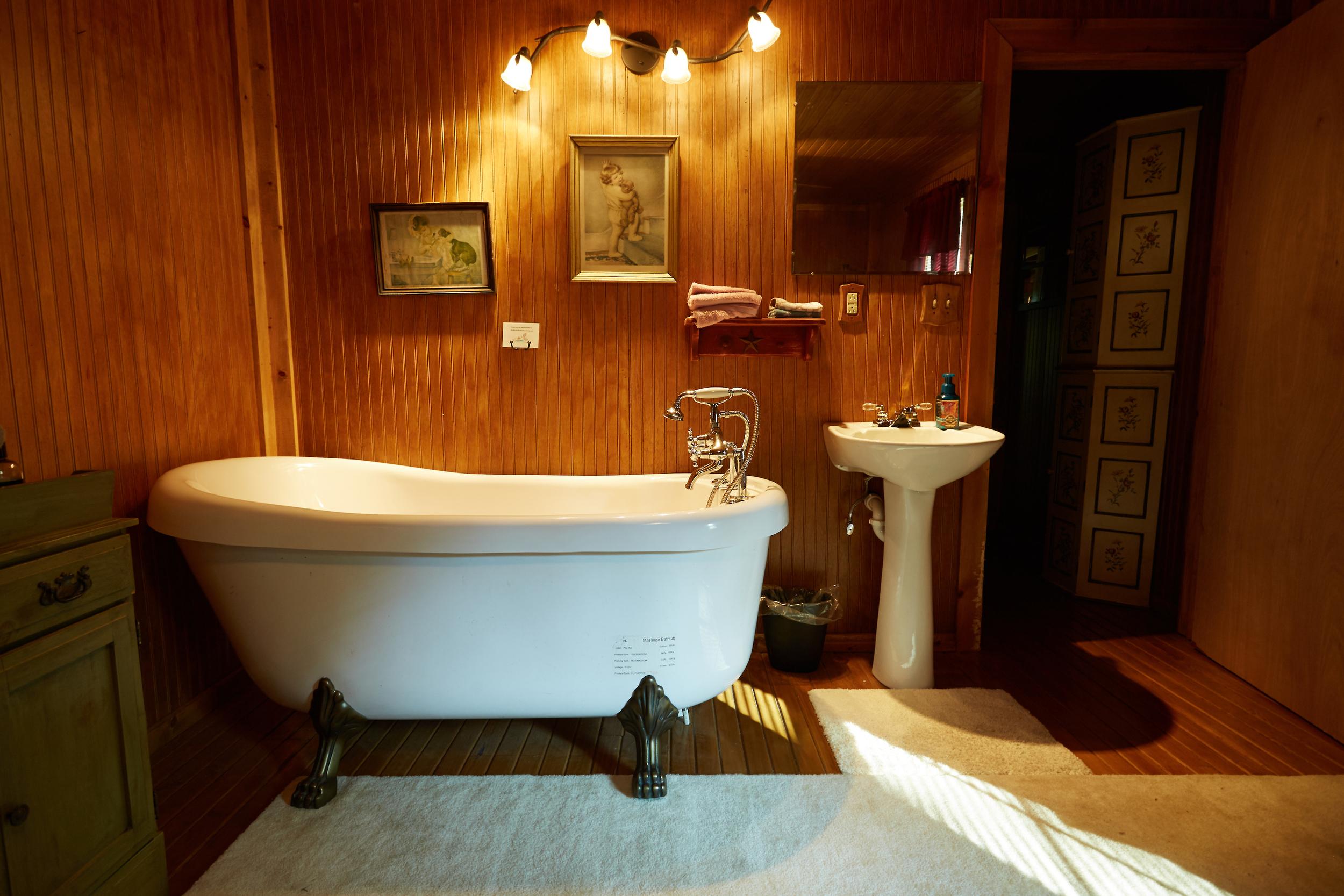 Clawfoot Tub in Charming Master Bedroom.