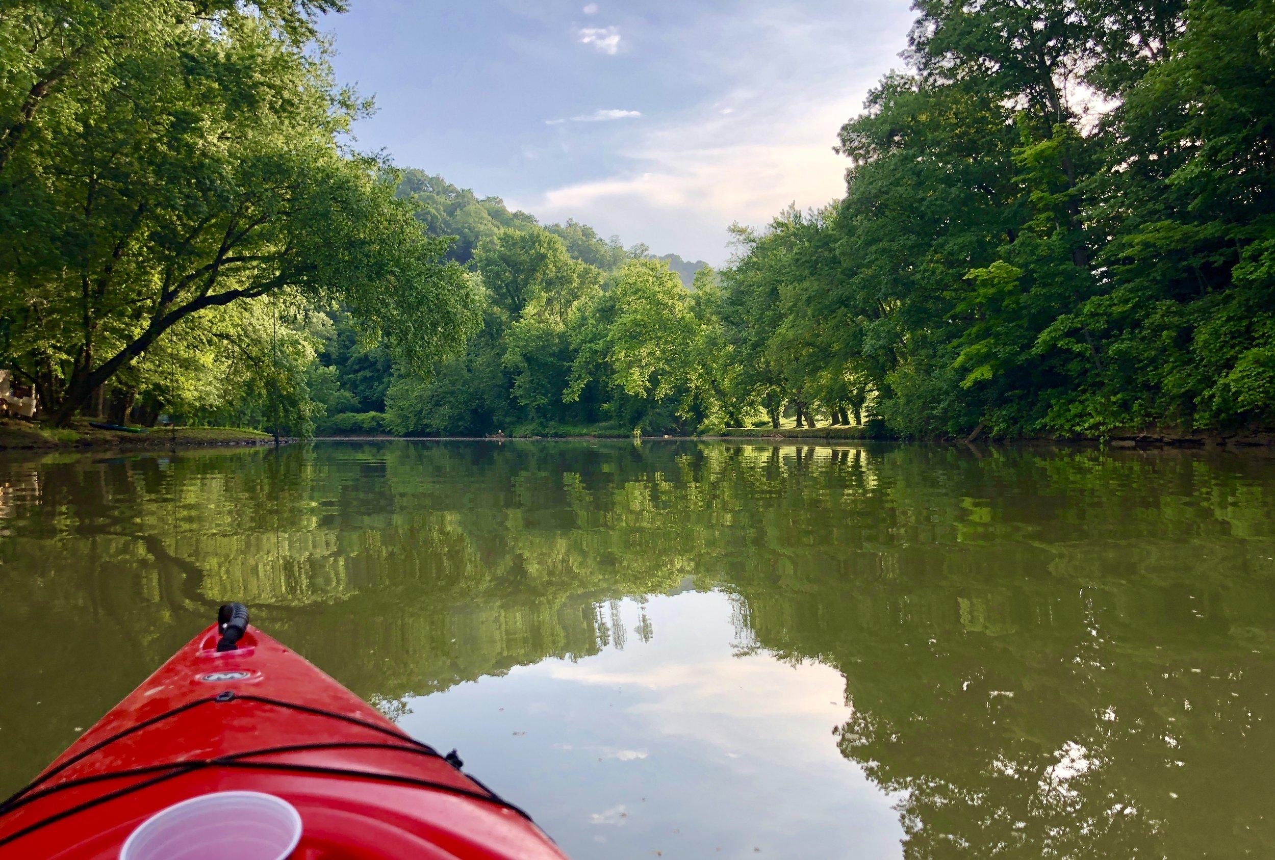 Kayaking on the Little Sandy River.