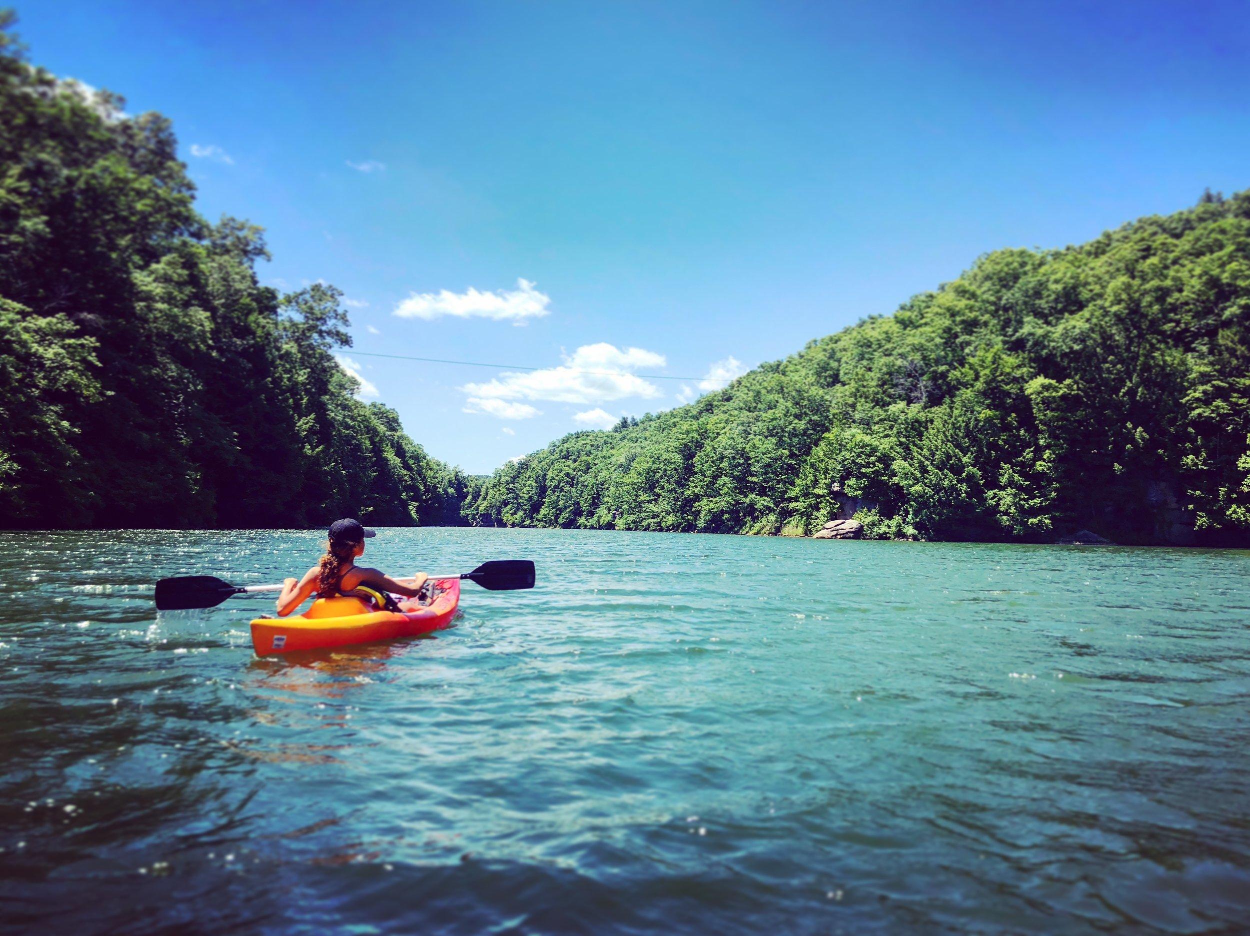 Off-Site Kayaking at Grayson Lake