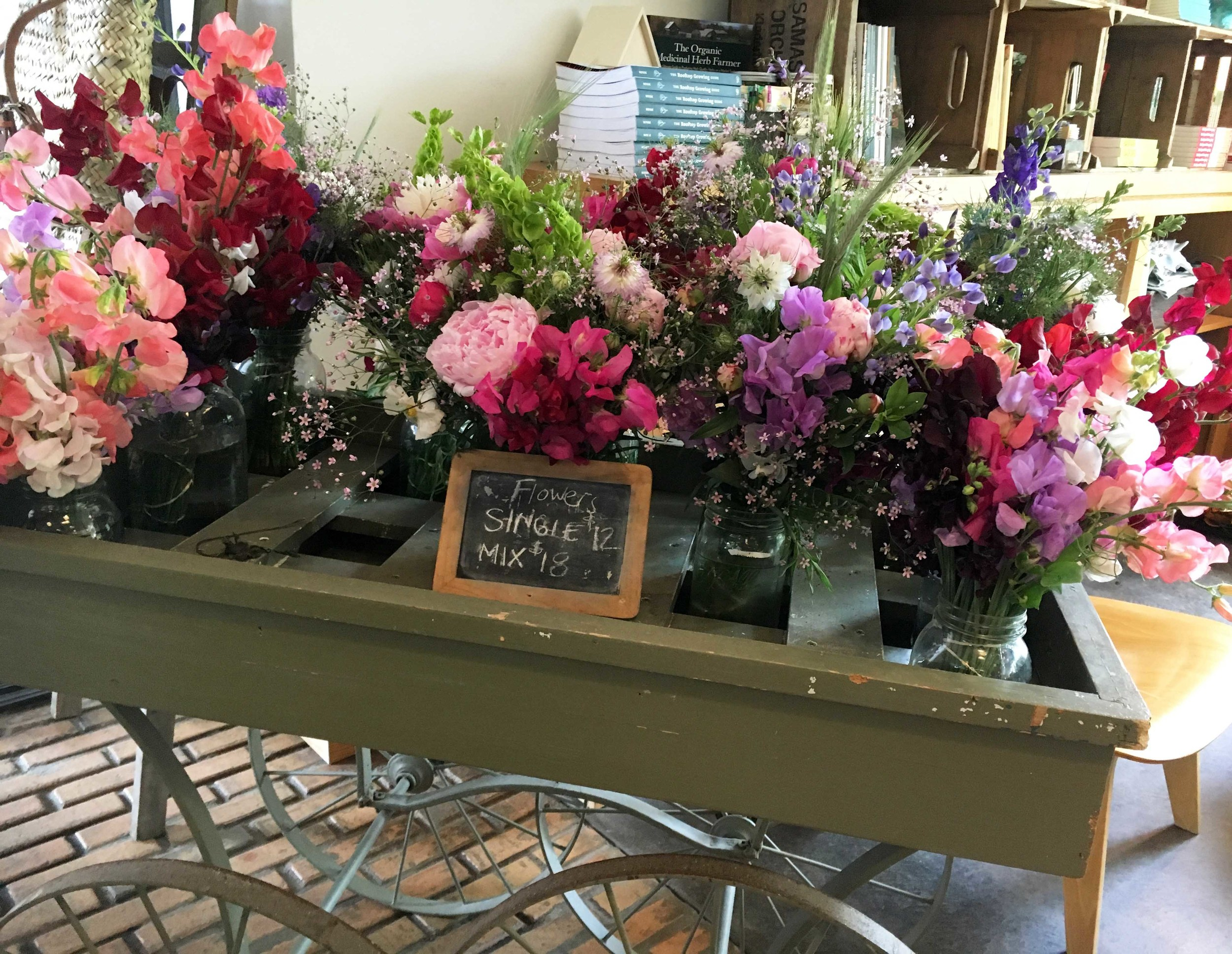 Flowers sold at Stone Barns