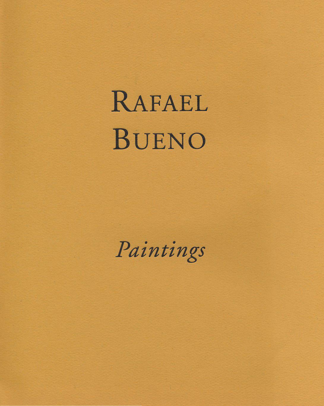 Rafael Bueno, Paintings, Centro Cultural Recoleta, Buenos Aires, 1994