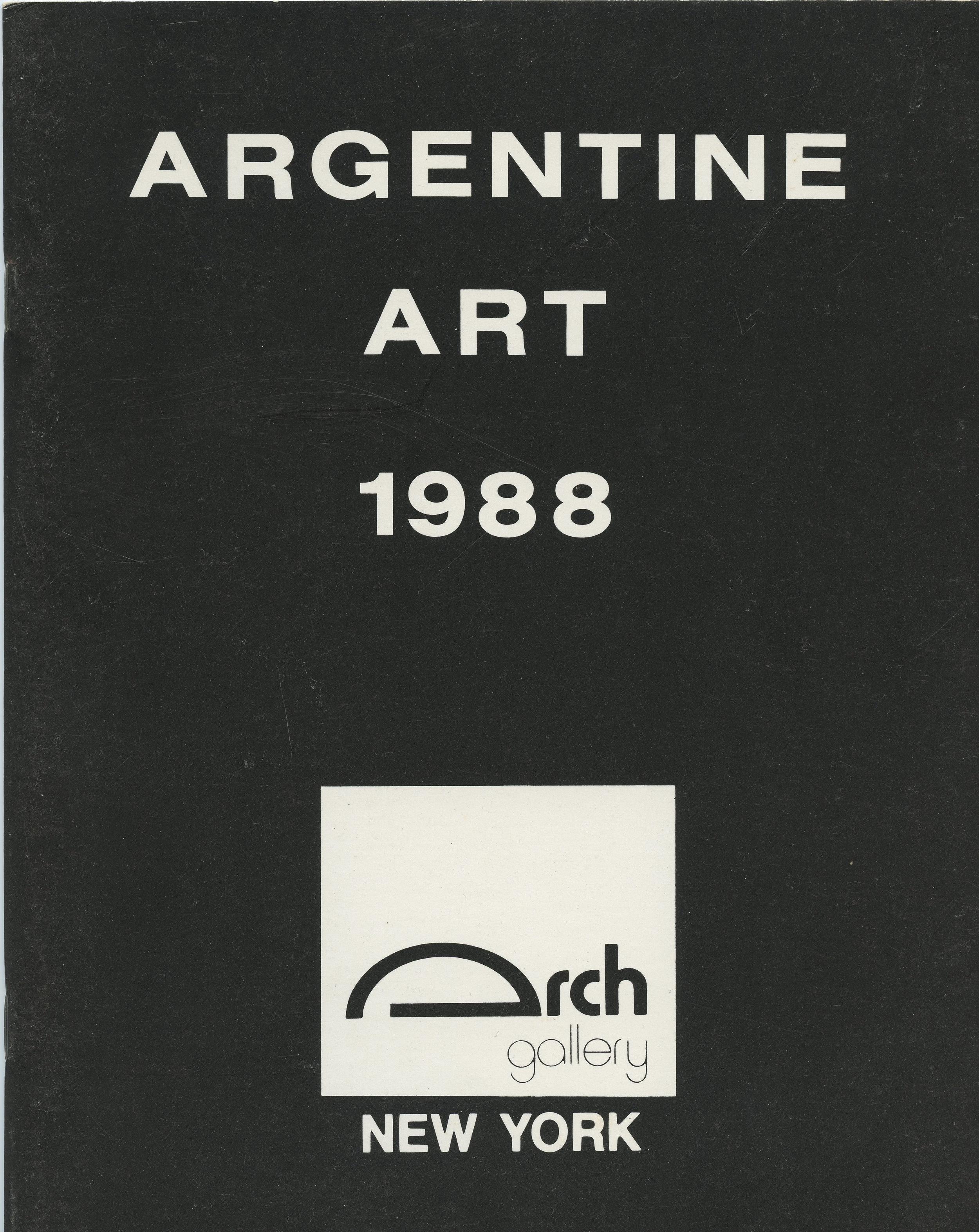 Argetine Art, Arch Gallery 1988