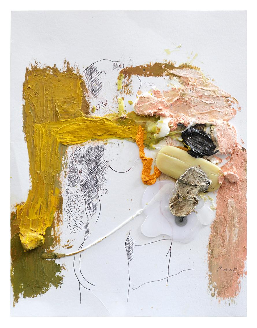 Sin título, lápiz, tinta, óleo y jabón sobre papel, 36 x 28cm-.jpg
