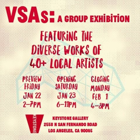 Count down to the opening reception @keystoneartla on 1/23. Flyer by #vsa #weshardestly #vsagroupshow #thebroadvsas #thebroad