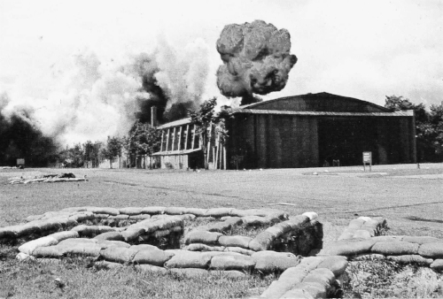 The single hanger at Duxford blown up during the making of  The Battle of Britain  movie