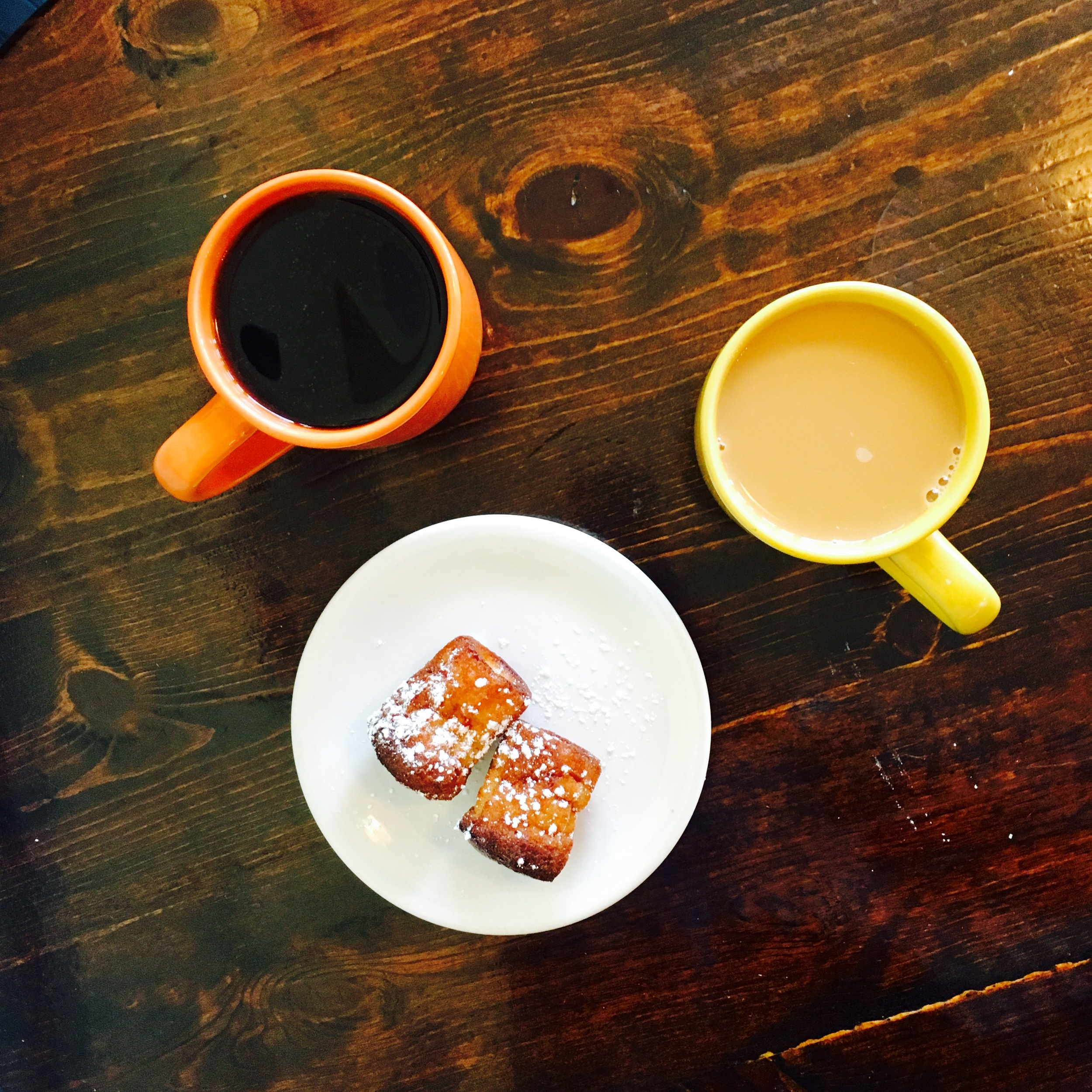 Coffee & Caneles from RVA's  WPA Bakery  in Church Hill