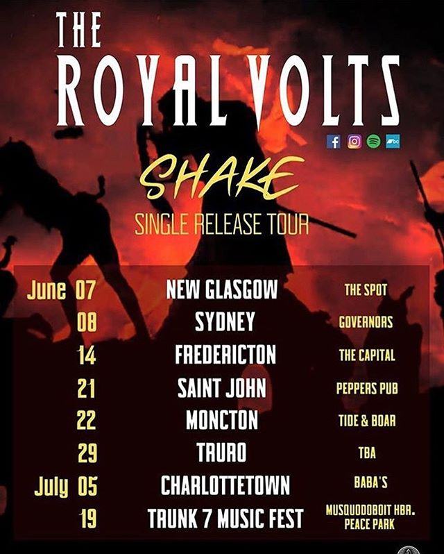 """@theroyalvolts June/July tour dates in support of their latest release """"Shake"""" on @ragged_head_records.  #TheRoyalVolts #Shake @musicnovascotia @eastcoastmusicassoc"""