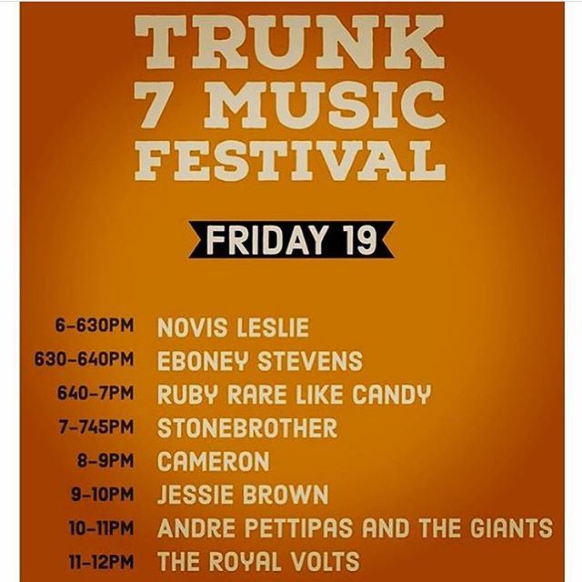 Catch @jessiebrown_ and @theroyalvolts tonight at @trunk7musicfestival