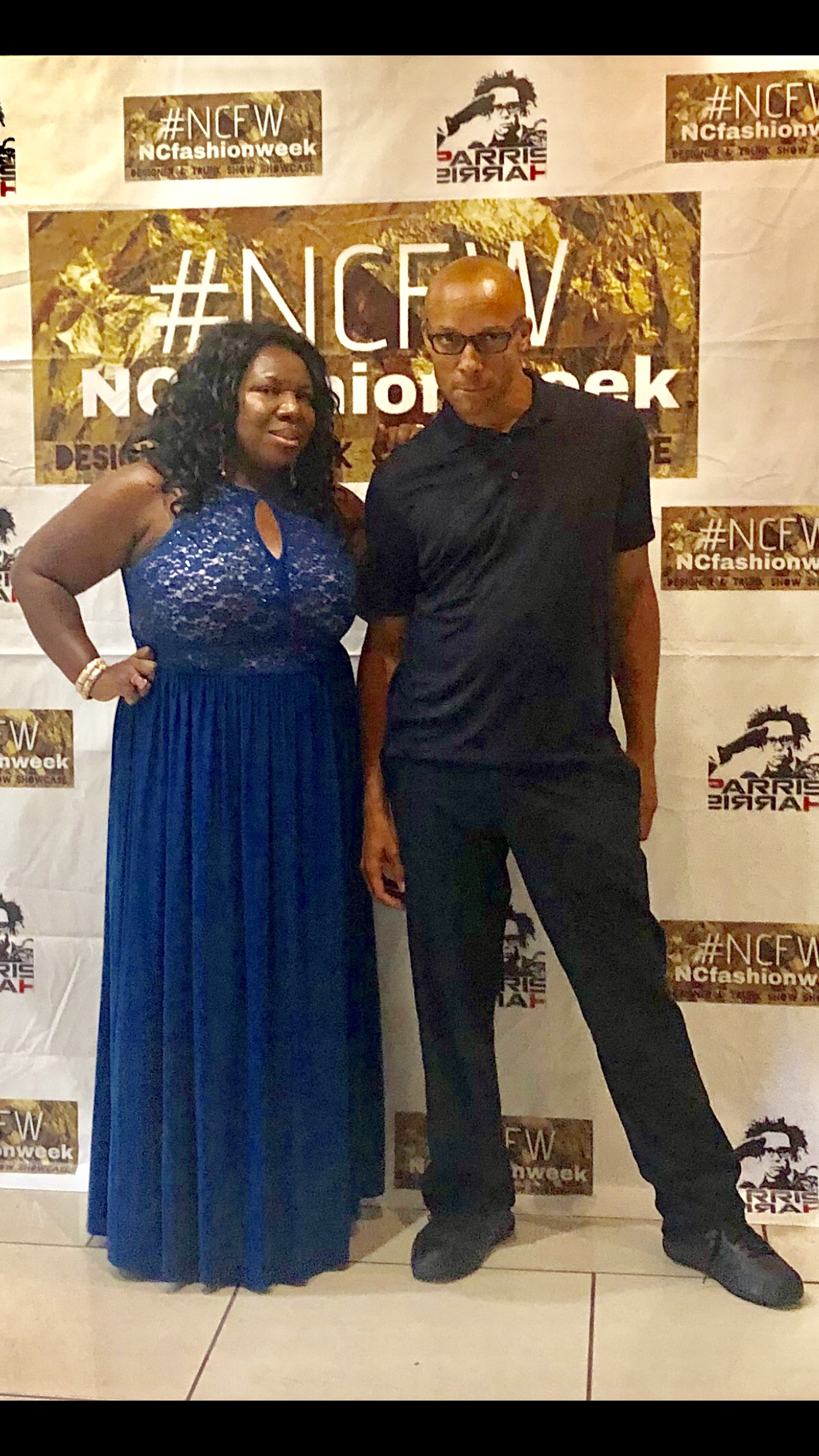 Pictured here:  Jennifer Baker CEO & Founder for Metro faces international Talent Agency and NCfashionWeek (left)  Parris Harris- Co Producer & Creative Director of NCfashionWeek (right)