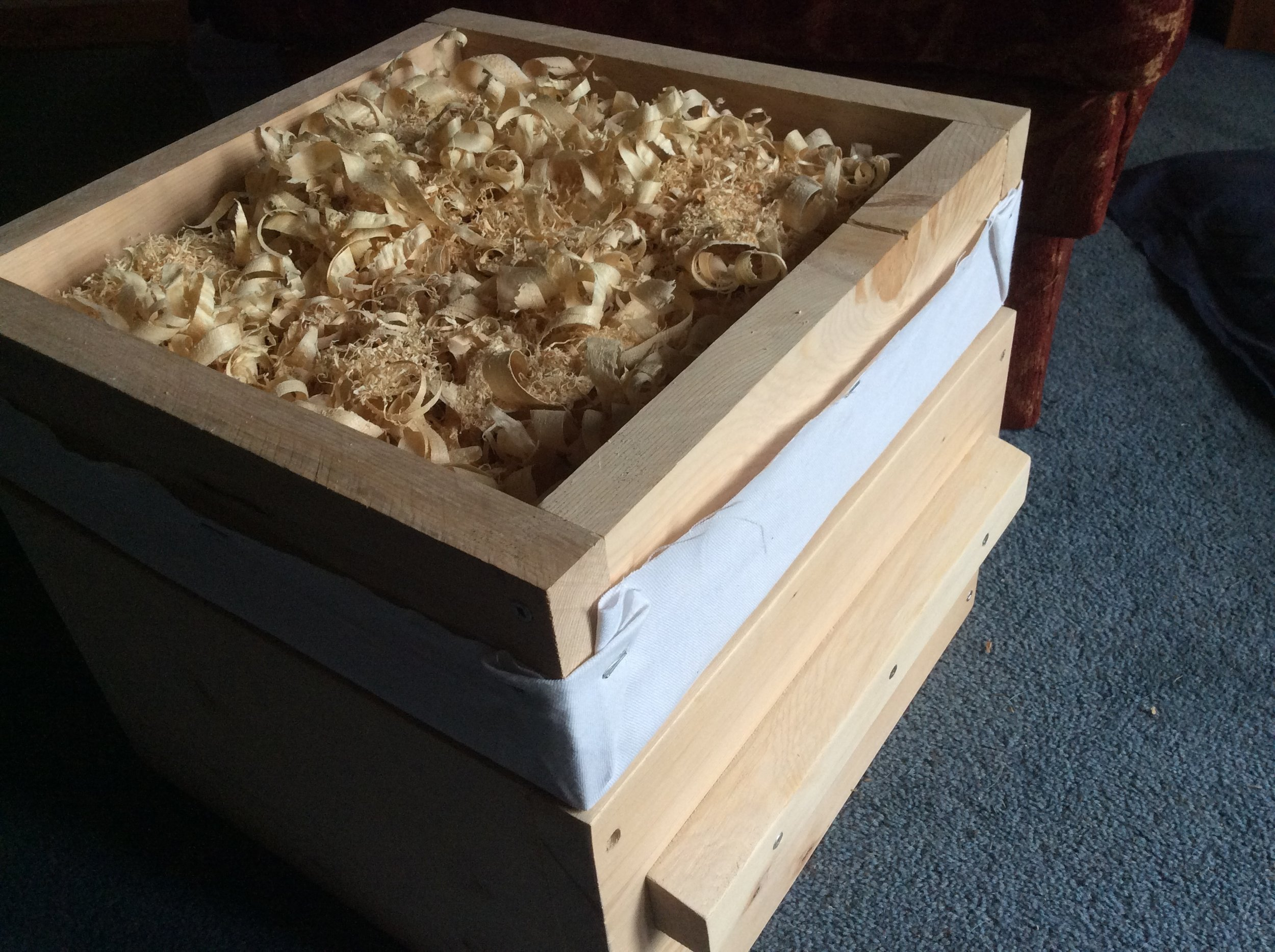 Warre Quilt for Insulation can be used on Langstroth hives