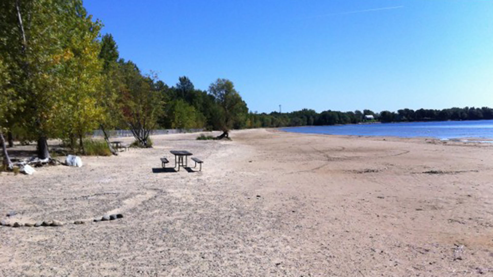 Beach at Alburgh Dunes State Park