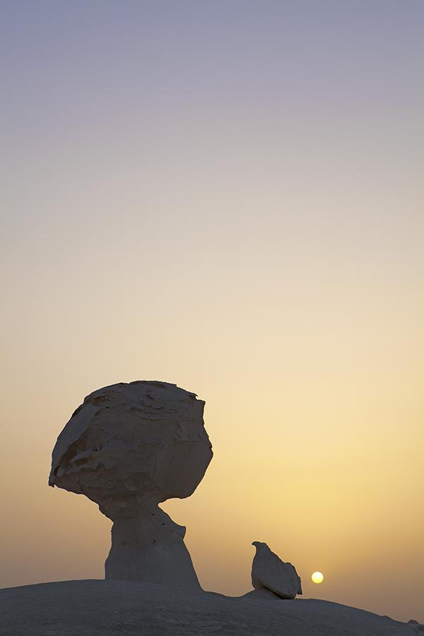 White Desert Sunset