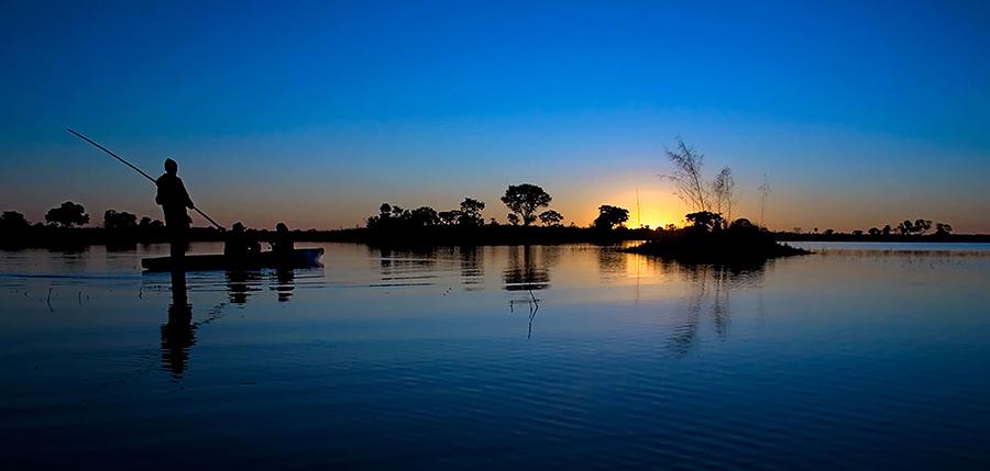 Mokoro Sunset