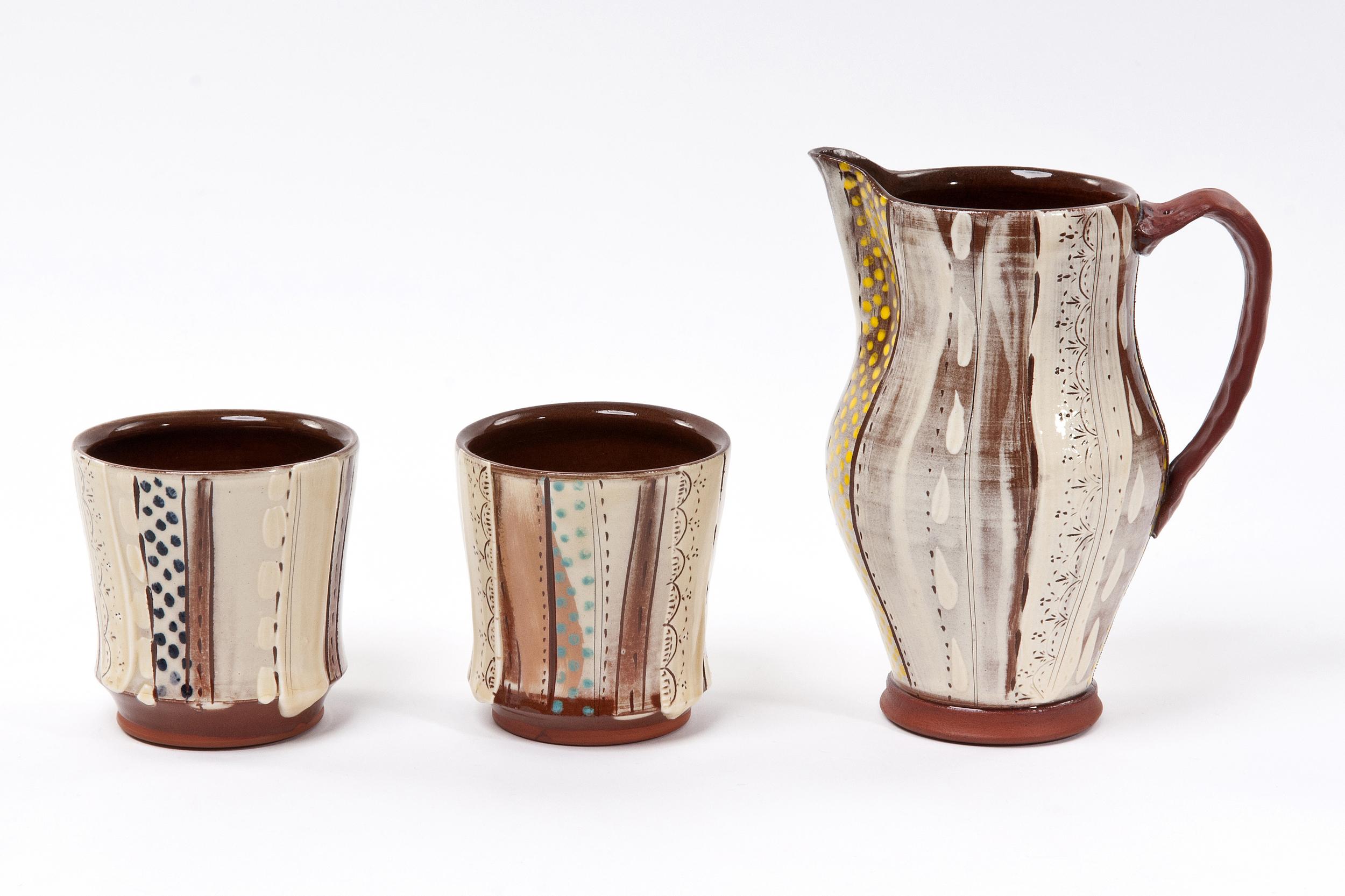 Jug £65, Juice Cups £24