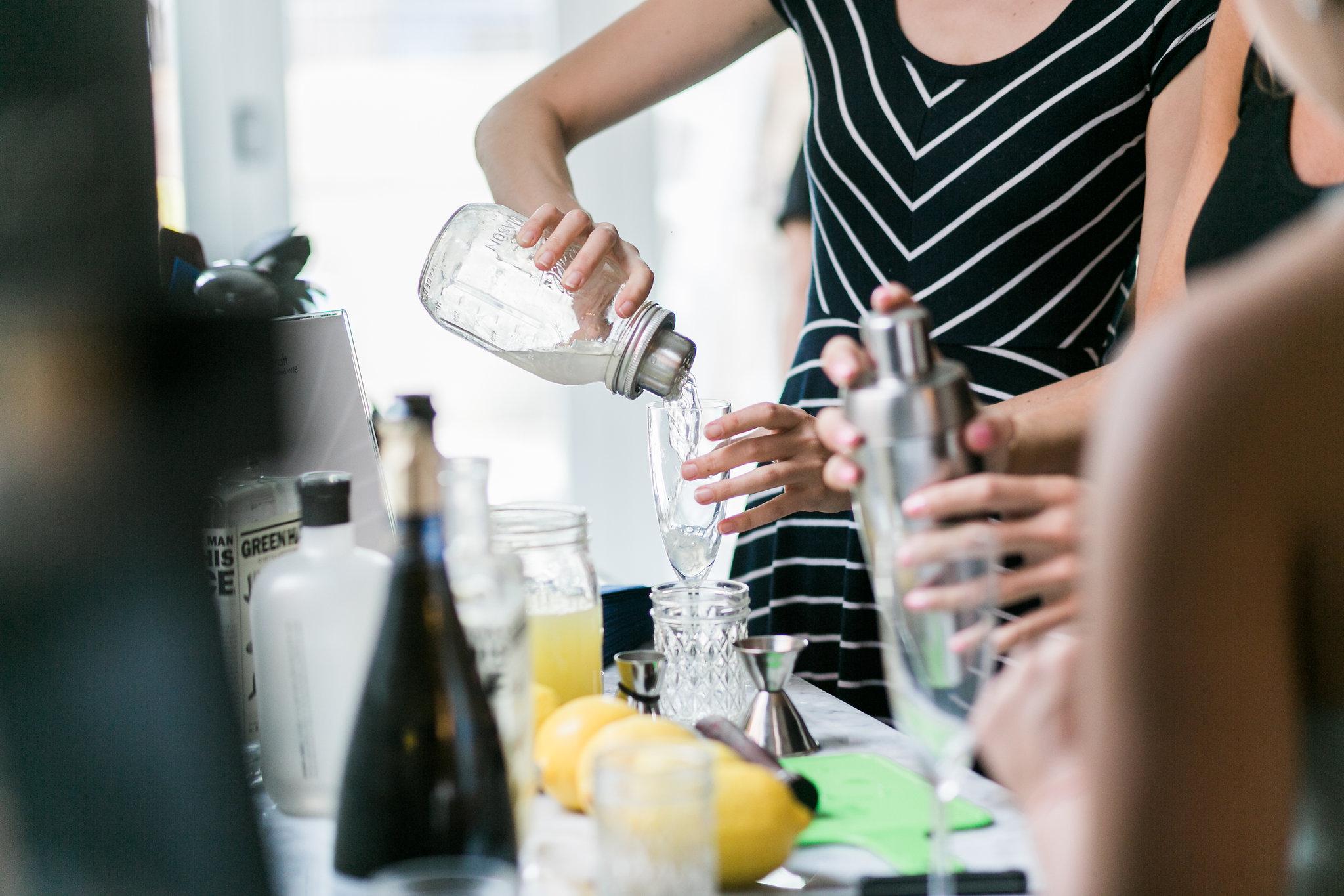 Mixing and making. Photo by Jen Eun.