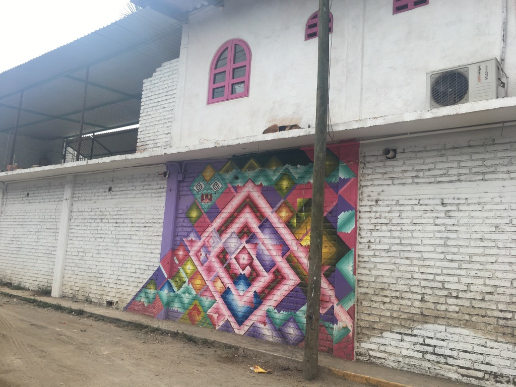 Mural on side of house in San Pancho