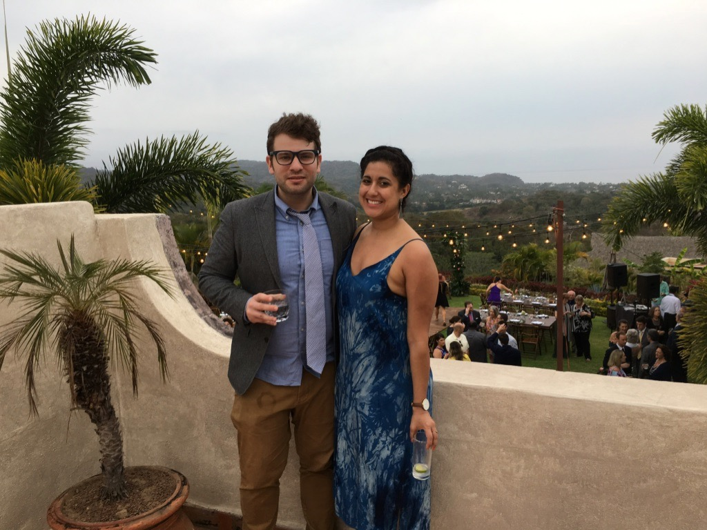 Jeremy and I at my friend's wedding in Nayarit, Mexico